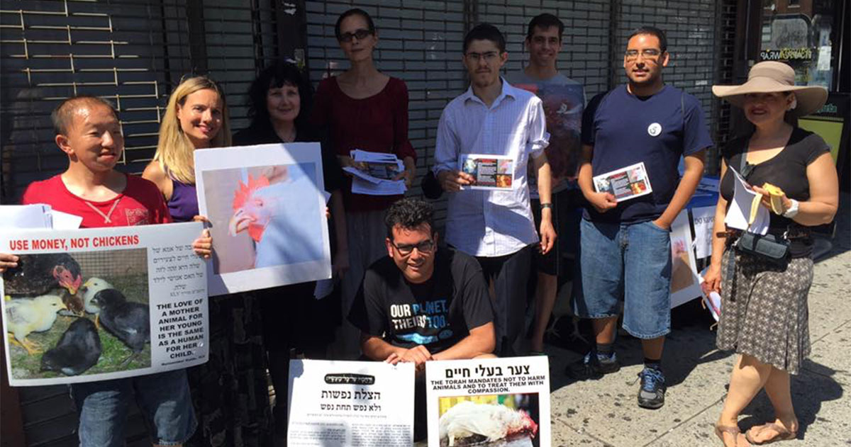Activists working to end Chicken Kaporos